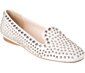 Prada Studded Smoking Slipper