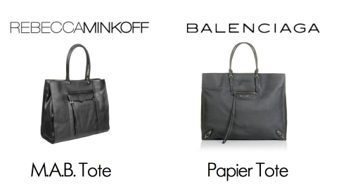 Look for Less: Minkoff vs. Balenciaga